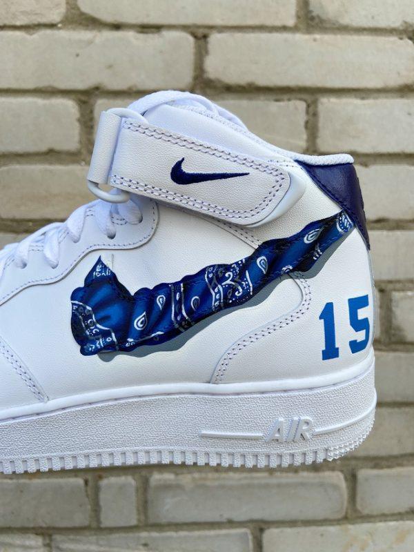 Opplain Custom Sneakers - Bandanna Blu 2