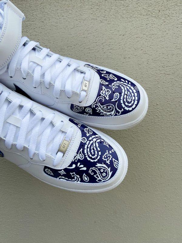 Opplain Custom Sneakers - Bandanna Blu 3
