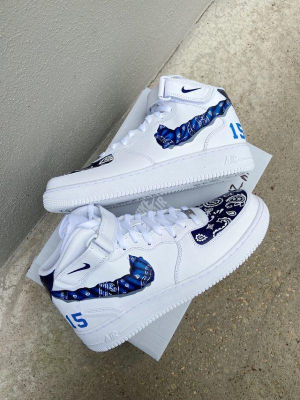 Opplain Custom Sneakers - Bandanna Blu