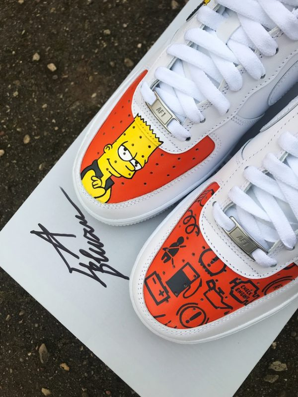 Opplain Custom Sneakers - Bart Simpson 2