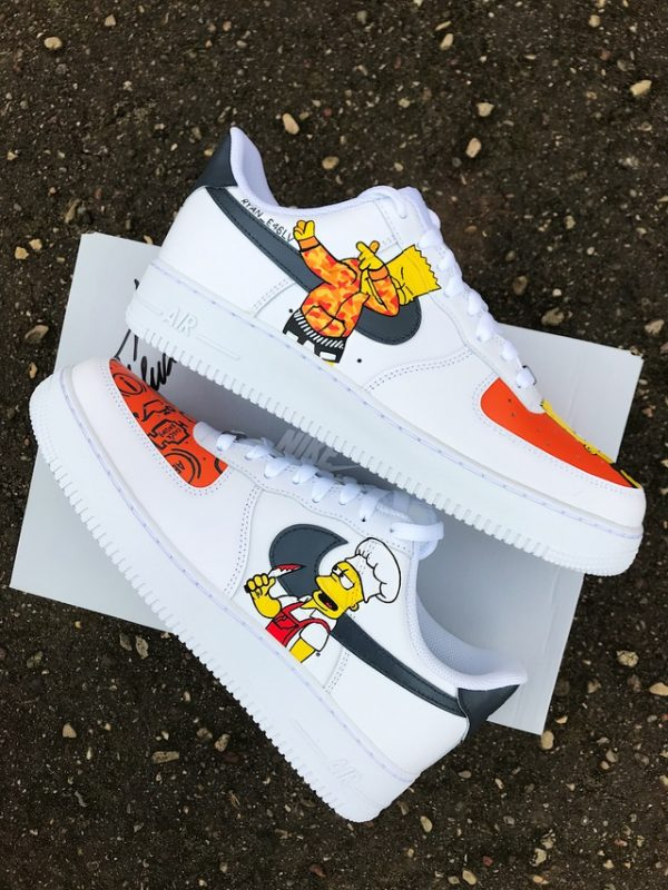Opplain Custom Sneakers - Bart Simpson