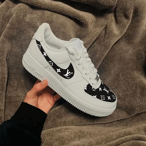Opplain Custom Sneakers - Black LV