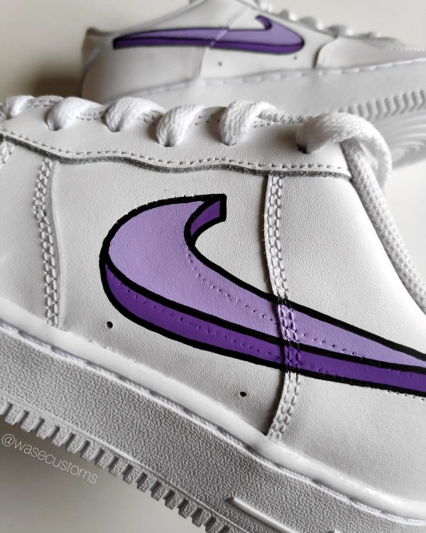 Opplain Custom Sneakers - CARTOON SWOOSH VIOLA 3