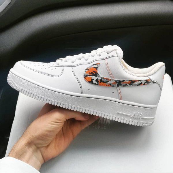 Opplain Custom Sneakers - Camo Arancione