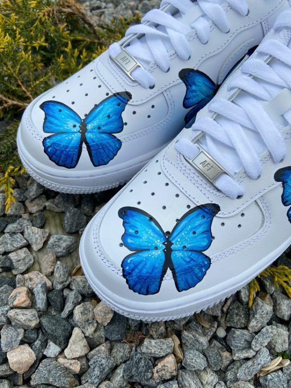 Opplain Custom Sneakers - Farfalle Blue 3