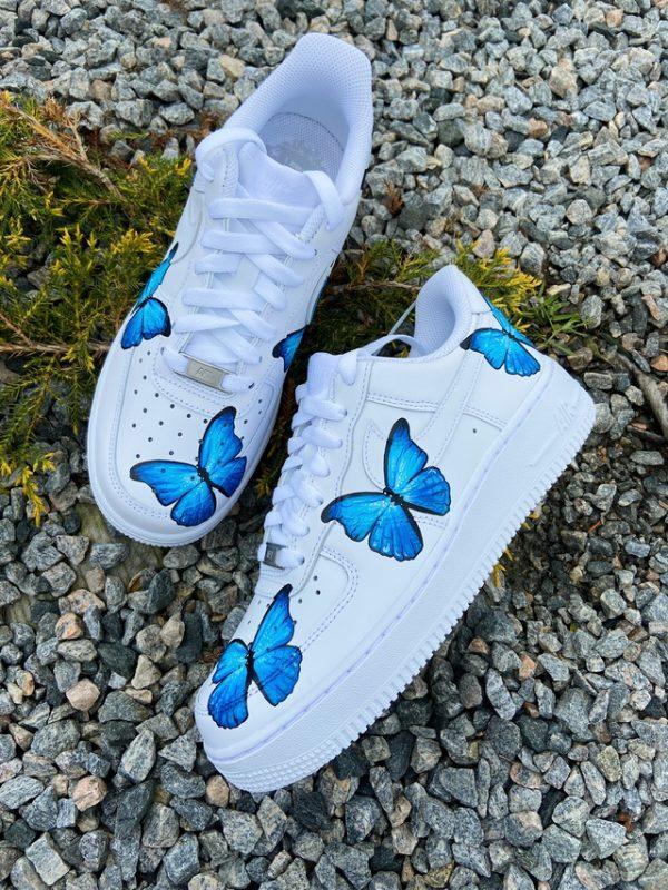 Opplain Custom Sneakers - Farfalle Blue 4
