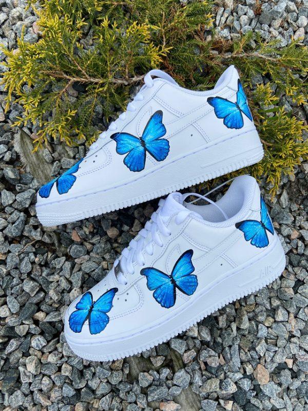 Opplain Custom Sneakers - Farfalle Blue