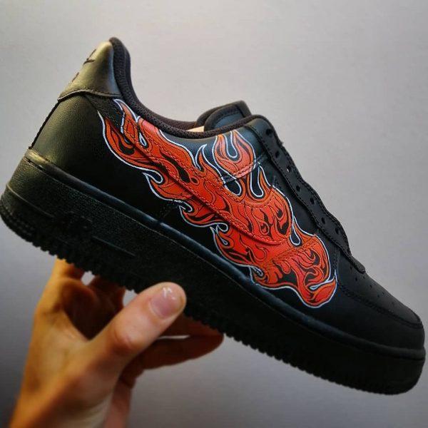 Opplain Custom Sneakers - Fiamma Arancione