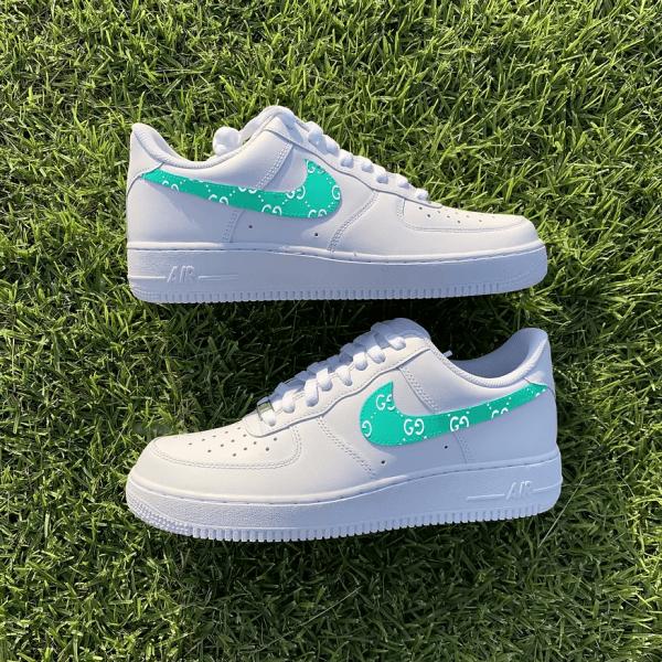 Opplain Custom Sneakers - GG Turchese