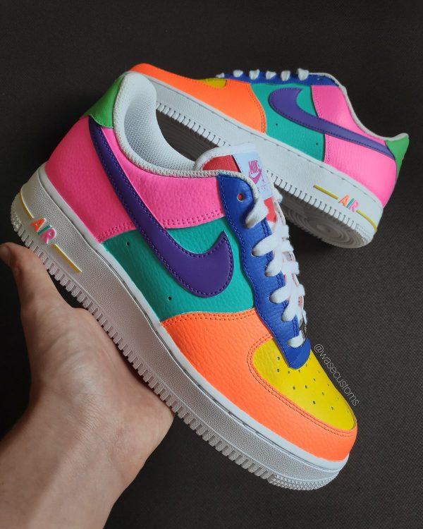 Opplain Custom Sneakers - Neon