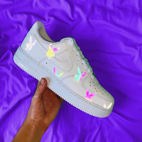 Opplain Custom Sneakers - Reflective Bunnies
