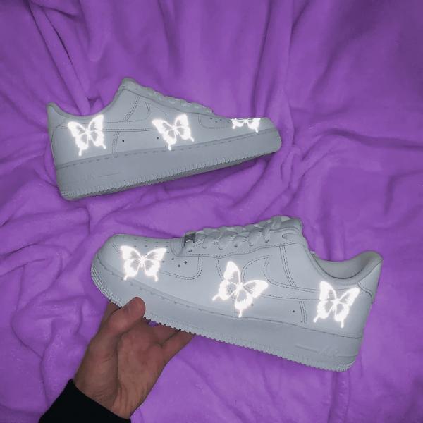 Opplain Custom Sneakers - Reflective Butterflies