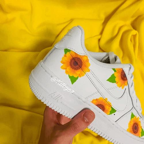Opplain Custom Sneakers - Sunflowers 3 1