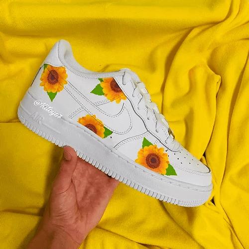 Opplain Custom Sneakers - Sunflowers