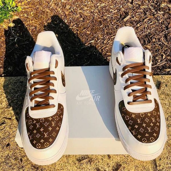 sneakers custom opplain lv brown